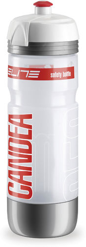 Elite Trinkflasche Candea 650ml Transparent-Rot