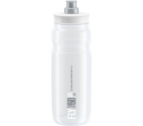 Elite Trinkflasche Fly Transparent-Grau 750ml