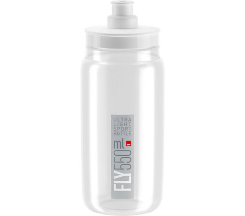 Elite Trinkflasche Fly Transparent-Grau 550ml